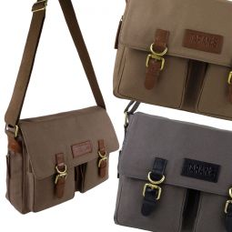 Taranis Leather & Canvas Messenger Bag