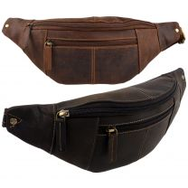 Oil Leather Waist Bum Bag by Visconti Fanny Pack Top Quality Travel Handy
