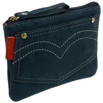Nubuck Leather Coin Purse By Mala Pinky Range Jeans Teens Boys Pocket Money