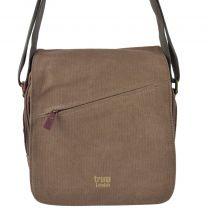 Mens Ladies Canvas Leather Cross Body Bag by Troop London Travel Flap Handy