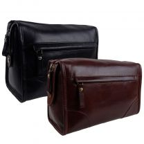 Prime Hide Leather Mens Washbag, Toiletry Bag, Wet Pack Milano Collection