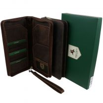 Visconti Hunter Leather  Travel Wallet Organiser Travel Passport Gift Boxed