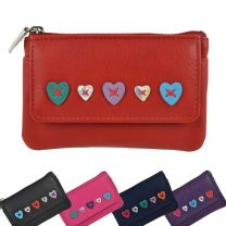 Ladies Leather Coin Purse/Wallet by Mala; Lucy Collection Handy Heart