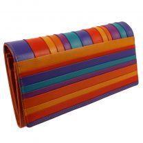 Golunski Leather Ladies Tri-Fold Flap Over Purse/Wallet Orange Seville