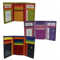 Ladies Tri-Fold Flap Over Tab Leather Purse/Wallet by Golunski Graffiti Gift Box