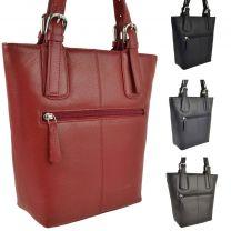 Ladies Soft Leather Shoulder Handbag By UK Designer Richard Kinsey Stylish Bucket Style
