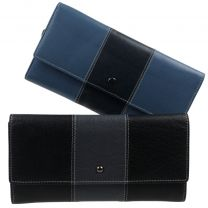 Ladies Long Flap Over Purse Wallet Top Quality Leather By Golunski