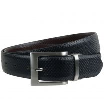 """Mens Reversible 1.25"""" Wide Leather Belt by Mala Leather; Snake Collection"""