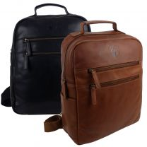 Underwood & Tanner Mens Leather Tablet Backpack/Rucksack