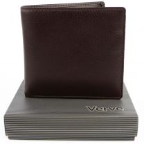 Mens Quality Leather Bi-Fold Wallet by Mala; Verve Collection Gift Boxed