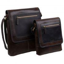 Rowallan of Scotland Mens Buffalo Leather Messenger Bag