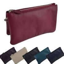 Ladies Soft LEATHER Shoulder Clutch BAG by Blousey Brown Night Out Handbag
