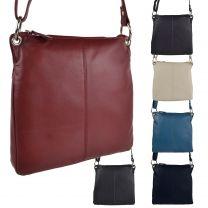 Ladies Soft Medium Leather Shoulder Cross Body Bag by Blousey Brown Classic Handbag