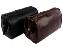 Mens Top Quality Leather Wash Bag by Mala; Verve Collection