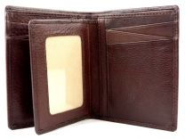 Mens Quality Leather Compact Tri-Fold Wallet by Mala; Verve Gift Boxed