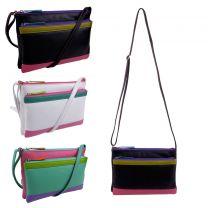 ili Leather Ladies Cross Body Shoulder Bag by Ili New York Colourful Detail