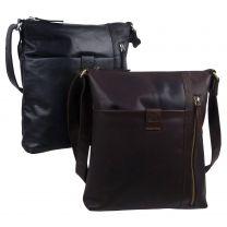 Rowallan of Scotland Mens Leather Messenger Bag Espana Collection