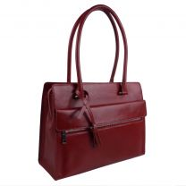 Ladies Italian Vintage Red Leather Shoulder/Work Bag Handbag by Visconti Tote