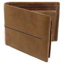 Quality Leather Stylish RFID Protected Wallet by Prime Hide Woodsman Collection with Gift Box