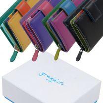 Ladies Small Compact Tab Leather Purse/Wallet by Golunski Graffiti Gift Box