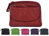 Mens or Ladies Quality Leather Coin Purse from Prime Hide with Keyring (9 Colours)