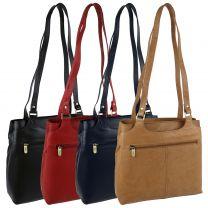 Ladies Soft Leather Shoulder Handbag by GiGi; Othello Collection Classic Bag
