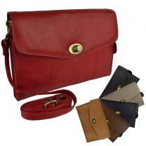 Ladies Classic Soft Leather Versatile Clutch Handbag by GiGi Stylish