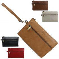 Ladies Soft Classic Leather Wrist Clutch Handbag by GiGi Versatile Stylish