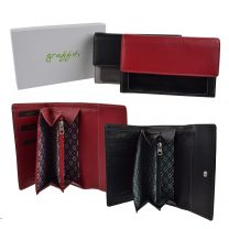 Ladies Leather Mid Size Purse/Wallet by Golunski Graffiti Gift Box Patent