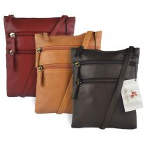 Ladies Leather Classic Cross Body Bag by Visconti in 3 Colours Stylish
