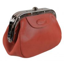 Ladies Leather Red Coin Change Purse by Hansson Pouch Gift