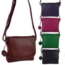 Hansson Leather Ladies Cross Body Handbag Nordic Blue Collection
