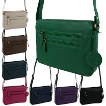 Ladies Leather Cross Body Handbag by Hansson Nordic Blue Shoulder Bag 8 Colours
