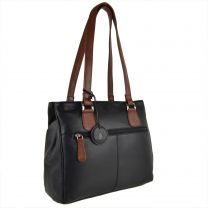 Soft Ladies Two-Tone Leather Handbag by Nordic Blue - Hansson Gift Mother's Day