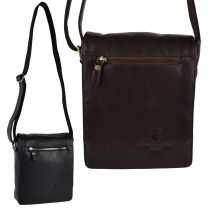 Mens Ladies Leather Cross Body Bag by Underwood & Tanner London Hansson Gift