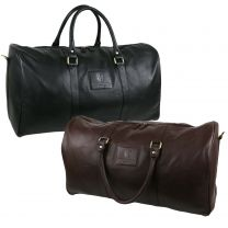 Mens Large Classic Leather Holdall by Underwood & Tanner Hansson Travel Overnight