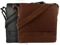 Mens Ladies Soft Leather Messenger Bag Cross Body by Nova Leather
