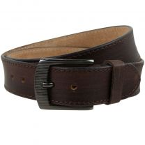 """Quality Mens Casual Brown Leather Belt 1.5"""" Wide Underwood & Tanner Sizes up to 48"""""""