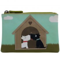 Mens Ladies Leather Scotty Dogs in Love Coin Purse by Mala Zipped Handy