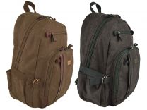 Mens Ladies Canvas & Leather Backpack Rucksack Troop of London Bag Travel