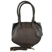 Ladies Leather Grab Bag by Richard Kinsey British Handbag Designer