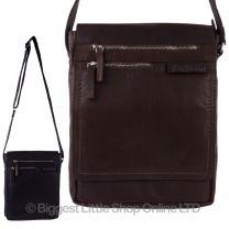 Mens Ladies Buffalo Leather North/South Cross Body BAG by Rowallan of Scotland