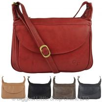 Ladies Leather Cross Body Bag by GiGi Othello Collection Stylish Classic Shape