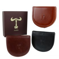Mens Leather Coin Tray Change by Mala Toro Collection Handy Gift Box