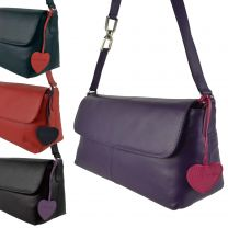 Ladies Leather Long Shoulder Bag by Mala; Anishka Collection Flap
