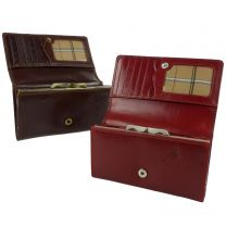 Ladies Italian Leather Clasp Purse/Wallet Visconti; Monza Collection Classic Gift Boxed