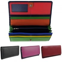 Ladies Real Leather Flap Over Purse/Wallet by Golunski GIFT Womens Handy