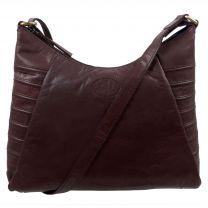 Rowallan Ladies Scoop Shoulder Bag in Brown Leather Sambrero Collection