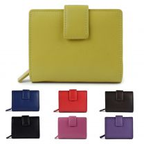 Ladies Compact Leather Purse/Wallet by Prime Hide Quality Gift Colourful