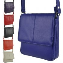 Ladies Small Leather Shoulder Cross Body Bag By Prime Hide Handy 7 Colours